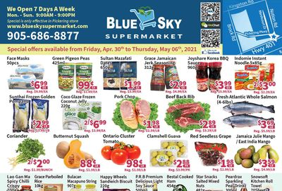 Blue Sky Supermarket (Pickering) Flyer April 30 to May 6