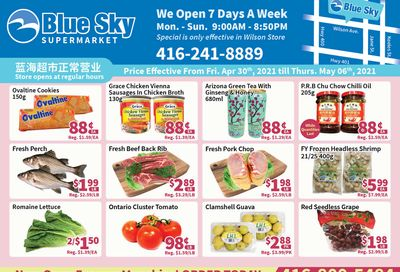 Blue Sky Supermarket (North York) Flyer April 30 to May 6