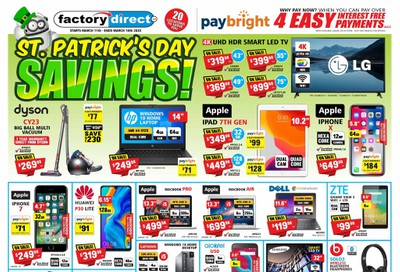 Factory Direct Flyer March 11 to 18