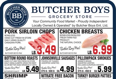 Butcher Boys Grocery Store Flyer April 30 to May 6