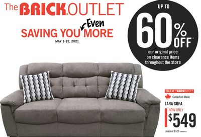 The Brick Outlet Flyer May 1 to 12