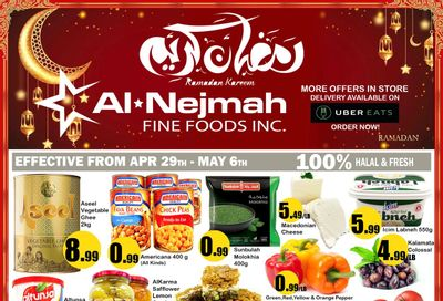 Alnejmah Fine Foods Inc. Flyer April 30 to May 6