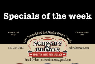 Schwab's & Primo's Flyer May 4 to 8