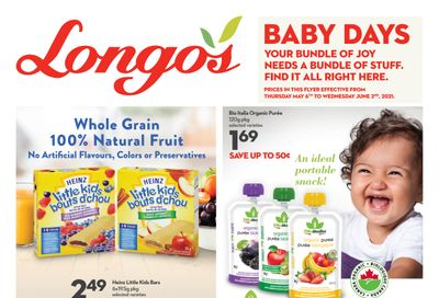 Longo's Baby Days Flyer May 6 to June 2