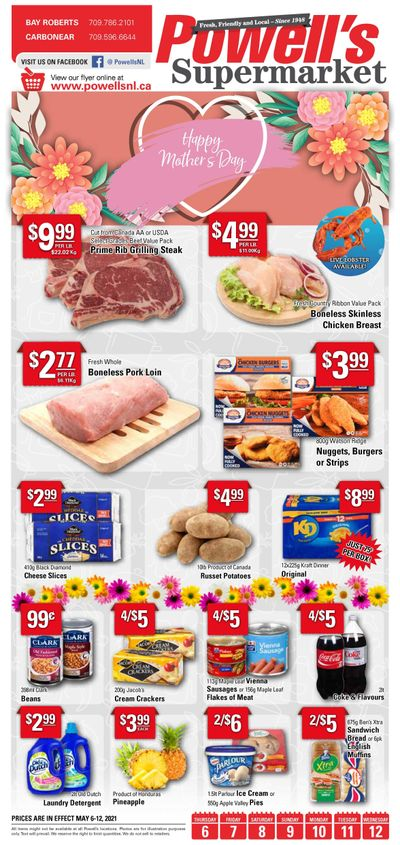 Powell's Supermarket Flyer May 6 to 12