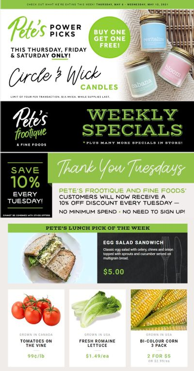Pete's Fine Foods Flyer May 6 to 12