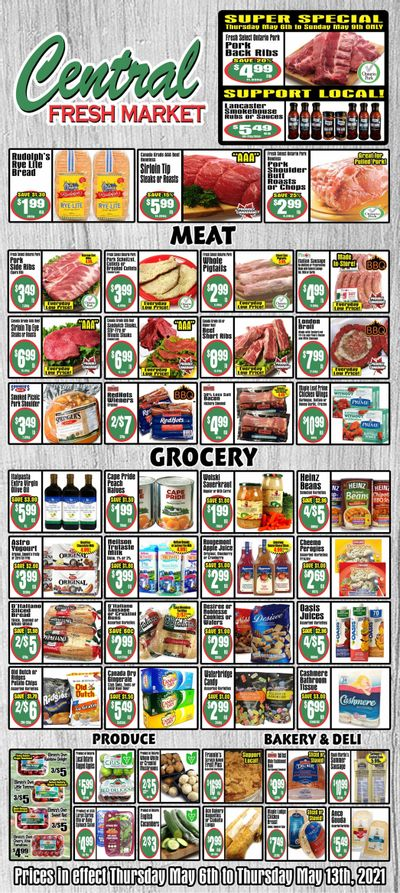 Central Fresh Market Flyer May 6 to 13