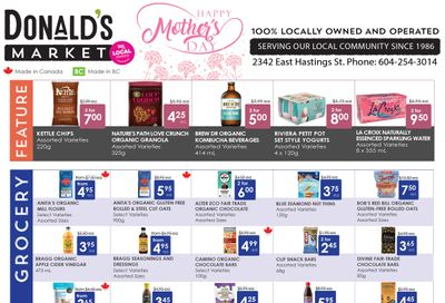 Donald's Market Flyer May 6 to 19