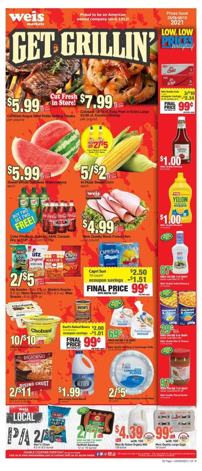 Weis (MD, NY, PA) Weekly Ad Flyer May 6 to June 10