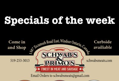 Schwab's & Primo's Flyer May 11 to 15