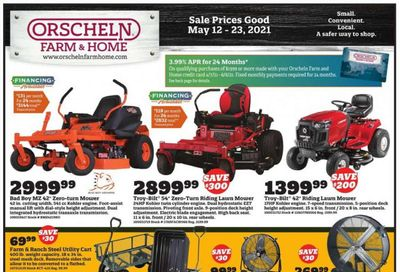 Orscheln Farm and Home (IA, IN, KS, MO, NE, OK) Weekly Ad Flyer May 12 to May 23