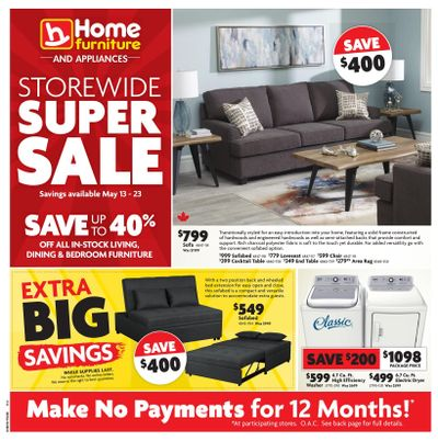 Home Furniture (Atlantic) Flyer May 13 to 23