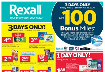 Rexall (West) Flyer March 13 to 19