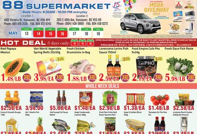 88 Supermarket Flyer May 13 to 19