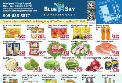 Blue Sky Supermarket (Pickering) Flyer May 14 to 20
