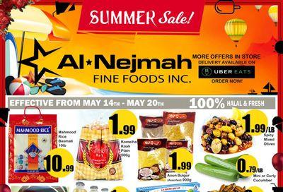Alnejmah Fine Foods Inc. Flyer May 14 to 20