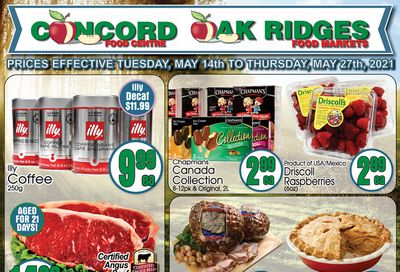Concord Food Centre & Oak Ridges Food Market Flyer May 14 to 27
