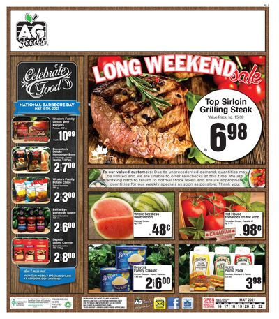 AG Foods Flyer May 16 to 22
