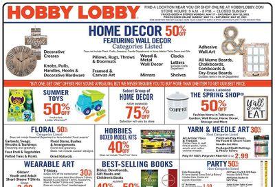 Hobby Lobby Weekly Ad Flyer May 16 to May 22
