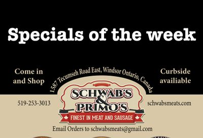 Schwab's & Primo's Flyer April 13 to 17May 18 to 22