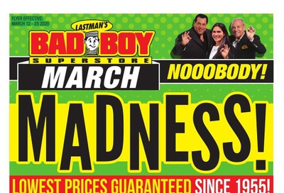 Lastman's Bad Boy Superstore Flyer March 12 to 25
