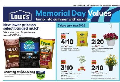 Lowe's Weekly Ad Flyer May 20 to June 2