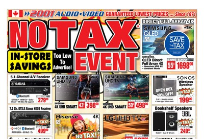 2001 Audio Video Flyer October 18 to 24