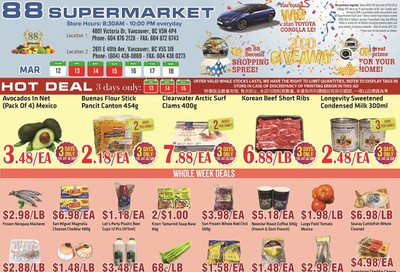 88 Supermarket Flyer March 12 to 18