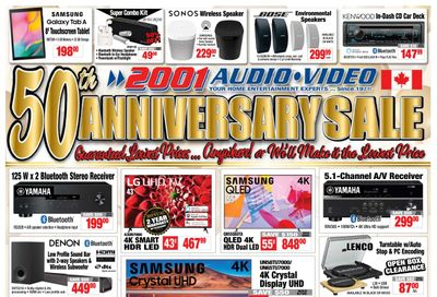 2001 Audio Video Flyer May 21 to 27