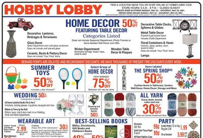 Hobby Lobby Weekly Ad Flyer May 23 to May 29