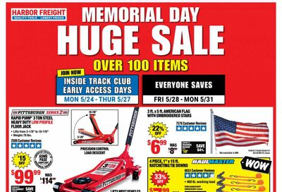 Harbor Freight Weekly Ad Flyer May 24 to May 27