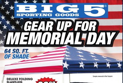 Big 5 (AZ, CA, CO, ID, NM, OR, UT, WA) Weekly Ad Flyer May 23 to May 31