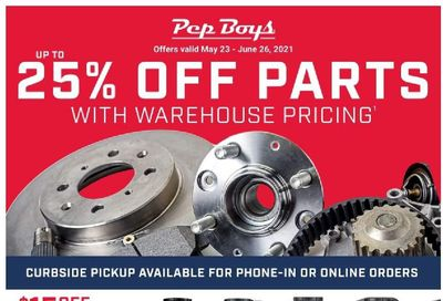Pep Boys Weekly Ad Flyer May 23 to June 26