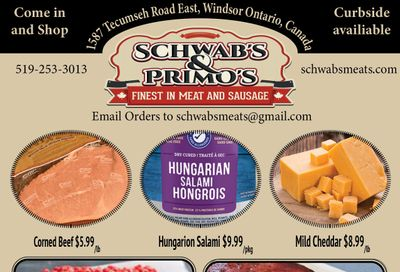 Schwab's & Primo's Flyer May 25 to 29