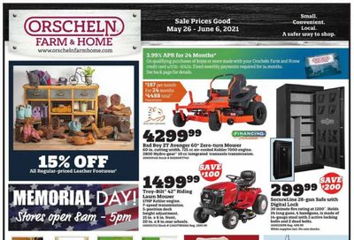 Orscheln Farm and Home (IA, IN, KS, MO, NE, OK) Weekly Ad Flyer May 26 to June 6