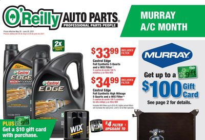 O'Reilly Auto Parts Weekly Ad Flyer May 26 to June 29