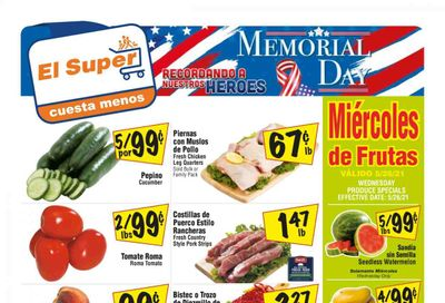 El Super (CA, NM, NV, TX) Weekly Ad Flyer May 26 to June 1