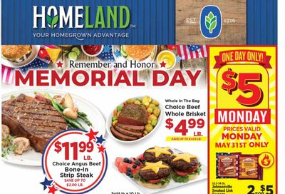 Homeland (OK, TX) Weekly Ad Flyer May 26 to June 1