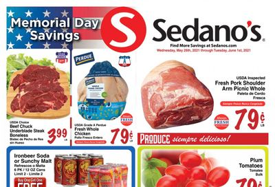 Sedano's (FL) Weekly Ad Flyer May 26 to June 1