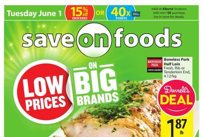 Save on Foods (AB) Flyer May 27 to June 2