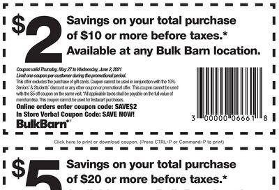Bulk Barn Canada Coupon: Valid until June 2