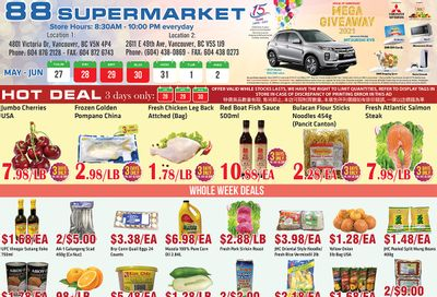 88 Supermarket Flyer May 27 to June 2