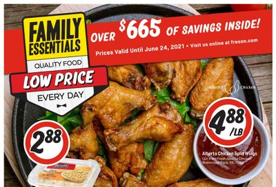 Freson Bros. Family Essentials Flyer May 28 to June 24