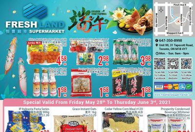 FreshLand Supermarket Flyer May 28 to June 3
