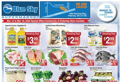 Blue Sky Supermarket (Pickering) Flyer March 13 to 19