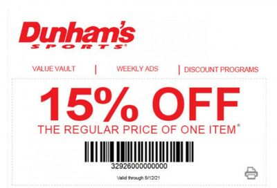 Dunham's Sports Weekly Ad Flyer May 20 to August 12