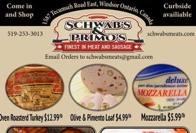 Schwab's & Primo's Flyer June 1 to 5