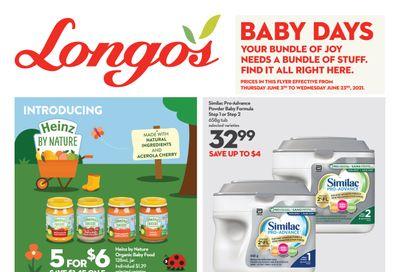 Longo's Baby Days Flyer June 3 to 23