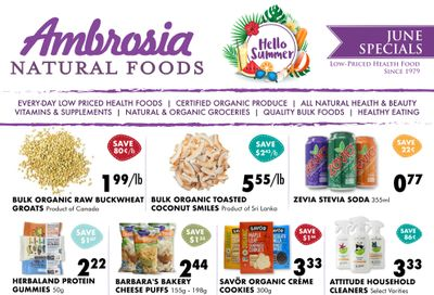 Ambrosia Natural Foods Flyer June 1 to 30