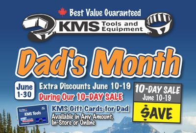 KMS Tools and Equipment Flyer June 1 to 30